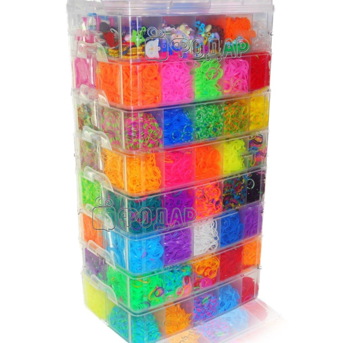 Резинки для плетения браслетов и наборы Rainbow Loom bands